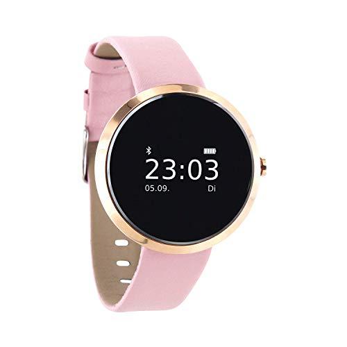 X-WATCH SIONA Smartwatch Damen iOS und Android Watch - Damenuhr rosegold Aktivitätstracker Damen elegant Fitnessarmband mit Herzfrequenz Fitness Uhr mit Schrittzähler