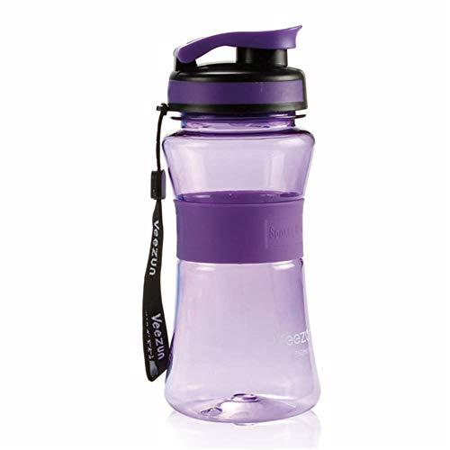 LKYJ 750 ml Kunststoff BPA FREI Wasser Flaschen Fahrrad Sport Trinken Flasche Tragbare Erwachsenen Wandern Reise Kinder Schule Verwenden Flasche Lila 750ml - Brita-wasser Lila Flasche