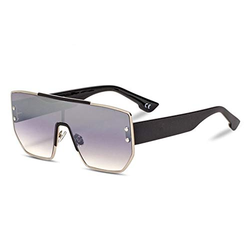Taiyangcheng Polarisierte Sonnenbrille Weinlese-übergroße Sonnenbrille-Frauen-Retro- Niet-Flacher Spitzenrahmen-Steigungs-Sonnenbrille-Mann-Brillen-weibliches Objektiv,A4
