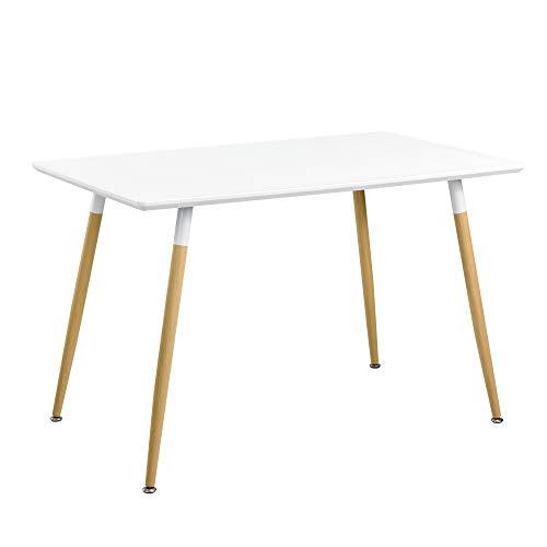en.casa]®] Mesa de Comedor para 4 Personas [120x70cm] Mesa de ...