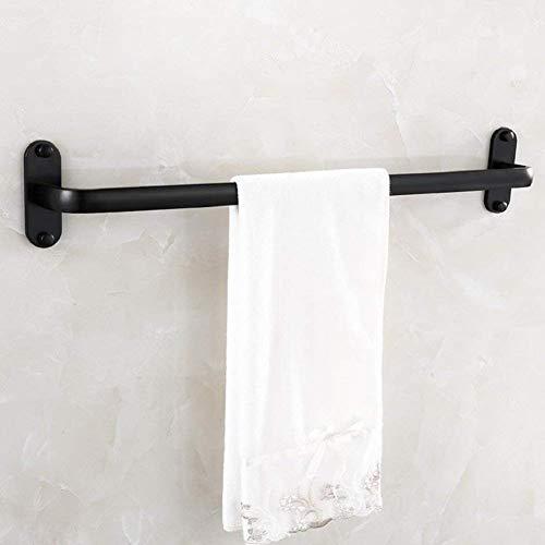 YUH Einfacher einpoliger Handtuchhalter im europäischen Stil - Robuster tragbarer Handtuchhalter aus Aluminium - Hotel und Home Black Handtuchhalter -