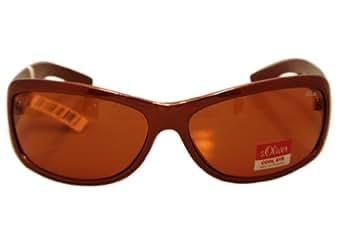 S.Oliver - 0162 brick brown. Big Size Schottenmuster Damen Sonnenbrille mit 100% UVA+B Schutz. Inklusive Gratis Brillenetui