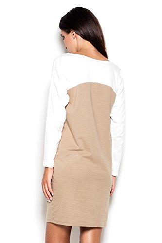 Katrus Robe bicolore super confortable à porter Beige
