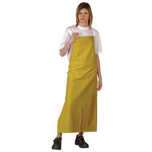 Arbeitsbedarf24.de PVC Gummischürze gelb 90x120 cm Arbeitsschürze Schürze Metzgerschürze Bauschürze