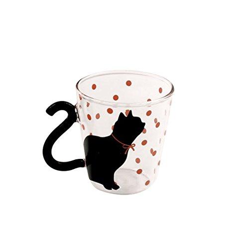 Süße, kreative Kätzchen-Tasse für Tee, Kaffee, Milch, Blau rose (Tee Rose-muster)