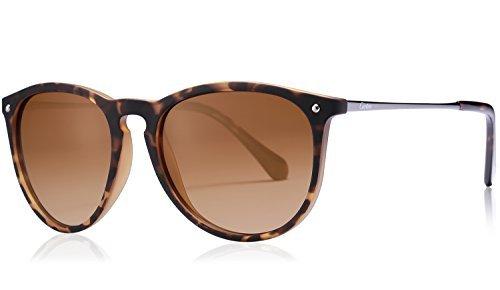 Carfia Carfia Vintage Polarisierte Damen Sonnenbrille Herren Sonnenbrille Fahrer Brille 100% UV400 Schutz für Autofahren Reisen Golf Party und Freizeit - Ultraleicht Rahmen