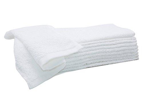 ZOLLNER® 10er Set Seiftücher / Seiflappen / Gästehandtücher 30x30 cm weiß, aus 100% saugfähiger Baumwolle, Qualität ca. 450 g/qm, direkt vom Hotelwäschespezialisten, Serie