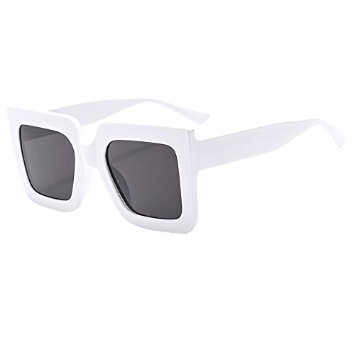 Dorical Sonnenbrille für Unisex/Damen Herren Groß Quadratischer Frame Gläser PC gestell Brillenfassung Elegant Vintage Brillen/Brille Dekobrillen/Valentinstag Brille für Frauen Männer Sale