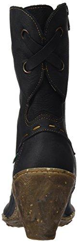 El Naturalista Damen N485 Pleasant Black/Ambar Kurzschaft Stiefel Schwarz (Black)