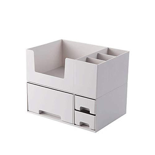 DFRgj Cosmetic Storage Box Organizer - Fächer zum Organisieren und Aufbewahren Ihres Kosmetik-Make-Ups und des Zubehörs , Sitzen ordentlich auf Eitelkeit oder Badezimmer-Arbeitsplatte (Farbe : Gray) - Badezimmer-eitelkeit-sitz