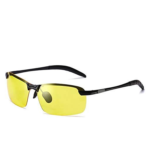 LLQ Herren-Sonnenbrillen-Sonnenbrillen-Außenspiegel-Herren-Farbfilm-Polarisator, schwarzer Rahmen für Nachtsichtgeräte