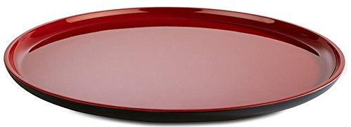 APS Teller -Asia Plus- aus Melamin Ø 28 cm, Höhe: 2 cm, innen: rot, glänzend, außen: schwarz, matt