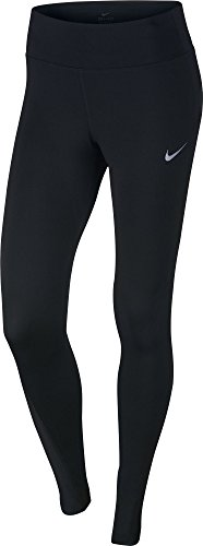 Nike Damen W NK Power Racer Lauf Tights, Schwarz, L Nike Kompressions-hose