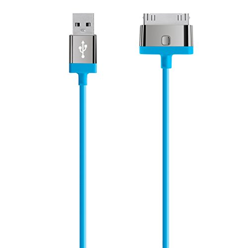 Belkin Lade-Sync Kabel (30-pin Anschluss, 2m) für Apple iPod/iPhone/iPad blau -
