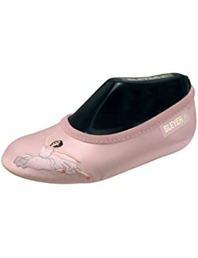 Bleyer Gymnastikschuhe Turnschläppchen rosa Ballerina Satin