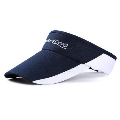 Navy Blue Arc (Anddod DP-503 Sports Permeable Sunblock Running Tennis Cap Outdoor Sunshade Hat - Navy Blue)