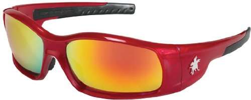 Crews SR13R Swagger Brash Look Polycarbonate Dual Lens Glasses with Crimson rosso Frame and Fire rosso Lens
