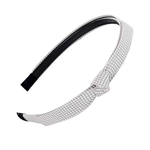 jerferr Stirnbänder Bow-Knot Hairband Hair Head Hoop Plaid Süßes Mädchen Stirnband