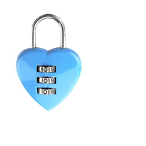 BESTOMZ Herzschloss Kombinations Zahlenschloss für Weihnachtsgeschenk Valentinstag Hochzeitstag