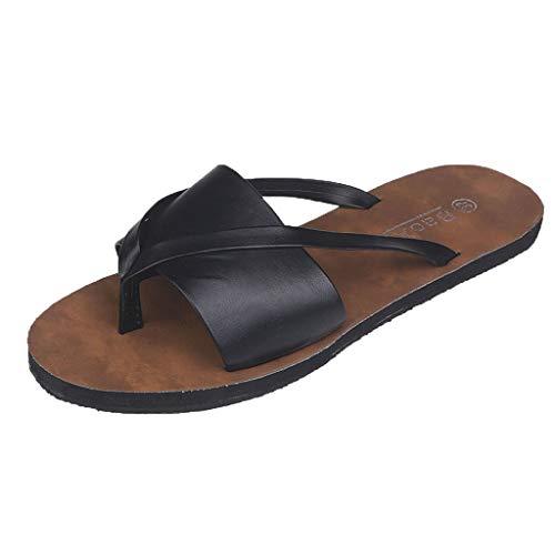 ❤ Amlaiworld Damen Summer Pin-Toe-Hausschuhe mit flachem Boden und offene Zehenschuhe tragen legere Strandsandalen und Hausschuhe