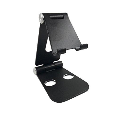 Segolike Desk stand, Multi-angle Holder Tablet Dock Adjustable Foldable Portable Desk Stand Fold-up Smartphone Stands Holders for Apple iPhone, iPad, Samsung Black