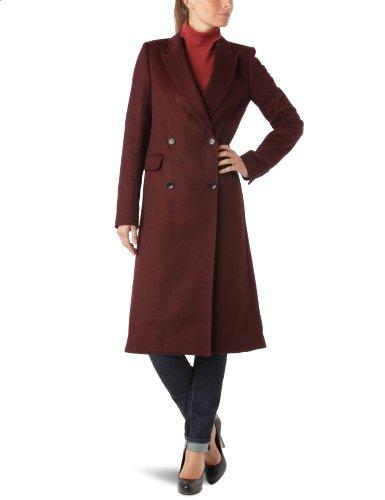 American Retro Damen Mantel, Uni, Schwarz (Bordeaux), 38 (Herstellergröße: 40)