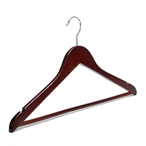 Xyijia Kleiderbügel Rote Mahagoni-Holz 17-Zoll-Kleiderbügel, Burgunder Aufhänger (12 Stück/Menge) -