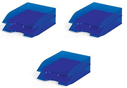Durable 1701673540 Vaschetta Portacorrispondenza, Confezione da 6 Pezzi, Blu Traslucido