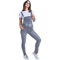 Wash Clothing Company Peto Mujer - Greywash Overalls Peto Corte Slim TALIA2FADEDGREY-10