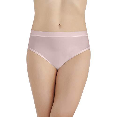 Vanity Fair Damen Light and Luxurious Hi Cut Panty 13195 Unterhose, Sheer Quartz, XX-Large (35) -