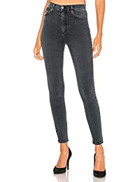 d217607eab54 MONYRAY Jeans Donna a Vita Alta Elasticizzati Pantaloni Skinny in Denim  Neri Blu   Grigio