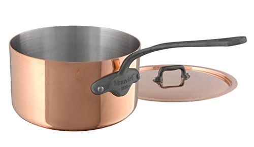 Mauviel M'Heritage M150C 6450.21 Copper Saucepan with Lid. 3.2L/3.1 quart 20cm/8