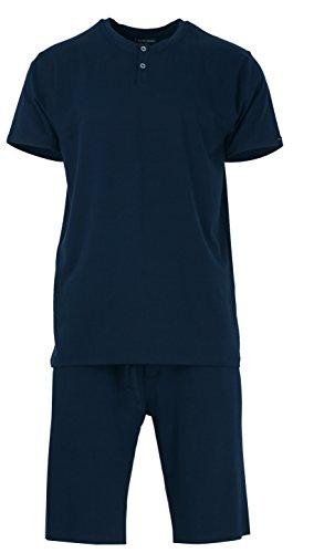 Baldessarini Herren Tencel Schlafanzug Pyjama Sky Captain