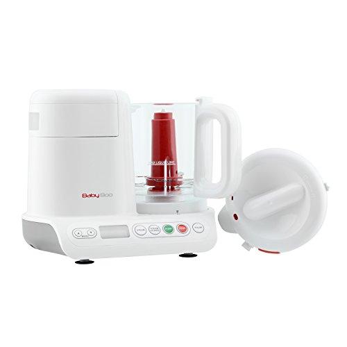 H.Koenig BB80 Dampfgarer und Mixer für Zubereitung von Babynahrung / Glasbehälter / Ohne Zusatz von Bisphenol A / 10 automatische Programme / 950 ml / weiß - 3