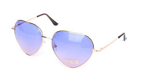 (Herz Herzen Herzchen Love Sonnenbrille Sommerbrille Sonnenbrillen mit UV Schutz Unisex Herzbrille (V16-SGP1403-lila))