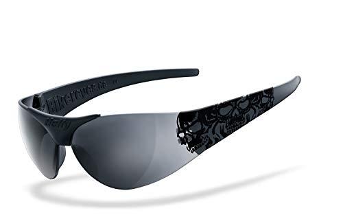 Helly® - No.1 Bikereyes®   H-FLEX®- unzerbrechlich, beschlagfrei, HLT® Kunststoff-Sicherheitsglas nach DIN EN 166   Sonnenbrille, Tribal Brille   Brille: moab 4 - smoke SUPER DARK - Cat.4