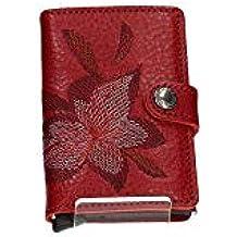 9e367bc8796 Secrid - Cartera Miniwallet Stitch Magnolia Rosso - MSt-Magnolia-Rosso -  Rojo,