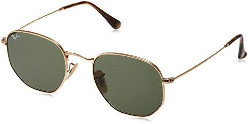 Ray-Ban 3548N, Occhiali da Sole Uomo, Verde-Oro, 51