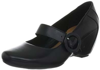Clarks Capricorn Blue 203523224, Damen Casual Slipper, Schwarz (Black Leather), EU 38