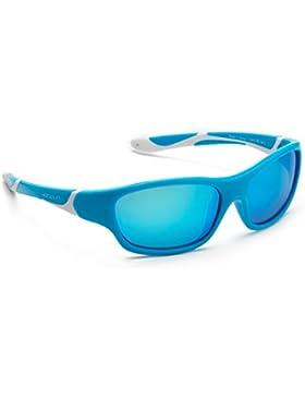 koolsun Niños Gafas de sol Sport 3–6años, aqua & White + ICE BLUE Revo lente | 100% protección UV | Optical...