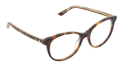 Dior Brillen Für Frau MONTAIGNE16 NA3, Tortoise / Crystal Kunststoffgestell, 51mm