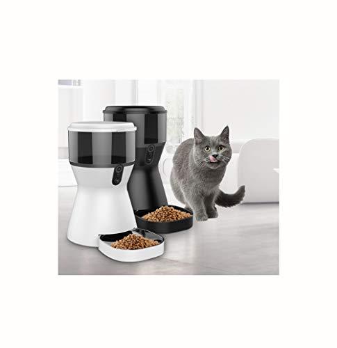 Mangiatoia automatica per animali domestici, mangiatoia per animali domestici per cani e gatti con versione per telecamera, sincronizzazione intelligente del telefono cellulare con temporizzatore di c