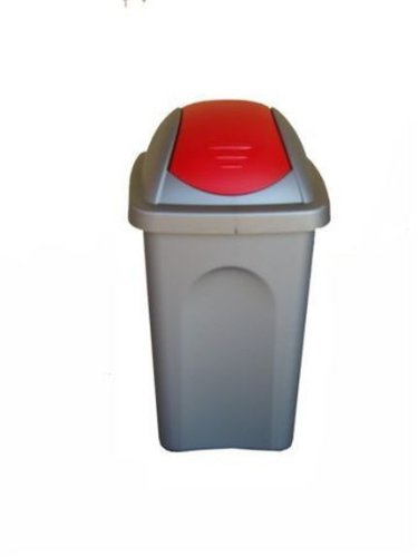 Stefanplast multipath poco Swing cubo de basura, Capri azul/plata, 30L