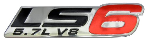 ls6-57l-v8-red-engine-emblem-badge-nameplate-highly-polished-aluminum-chrome-silver-for-gm-general-m
