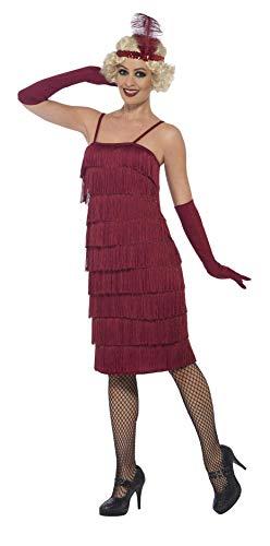 Red Erwachsenen Für Kostüm Flapper - Smiffys 44676S - Damen Flapper Kostüm, Größe: 36-38, rot