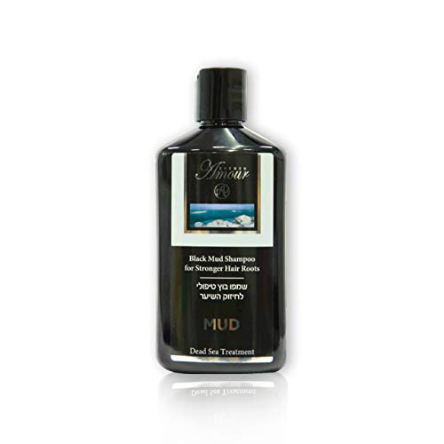 Anti Juckreiz Shampoo (Totes Meer Schlamm Shampoo 400 ml | Anti-Schuppen Haarwaschmittel - hilf gegen Reizungen und Juckreiz | beschleunigt den Haarwuchs | wirkt gegen Haarausfall bei Mann und Frau | von Shemen Amour)