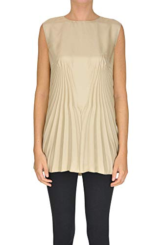 Maison Margiela Pleated Satin top Woman Gold 42 IT