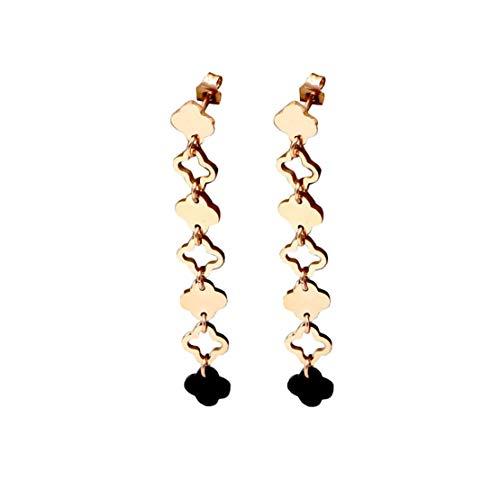Yslin Frau Kleeblatt Troddel Mode Geburtstag Geschenk Drop Haken Junior Modeschmuck Ohrringe Damen Zierliche AnhäNger