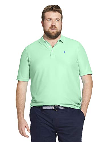 IZOD Men's Big and Tall Advantage Performance Solid Polo Shirt (Poloshirt Big Tall Herren)