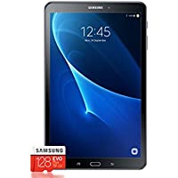 Samsung Galaxy Tab A T580 25,54 cm (10,1 Zoll) Tablet-PC (1,6 GHz Octa-Core, 2GB RAM, 32GB eMMC, Wifi, Android 7.0) Schwarz + Samsung Evo Plus Micro SDXC 128GB